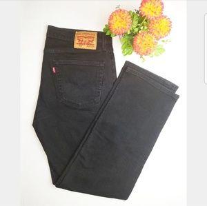 Levi's 514 Black Denim Jeans